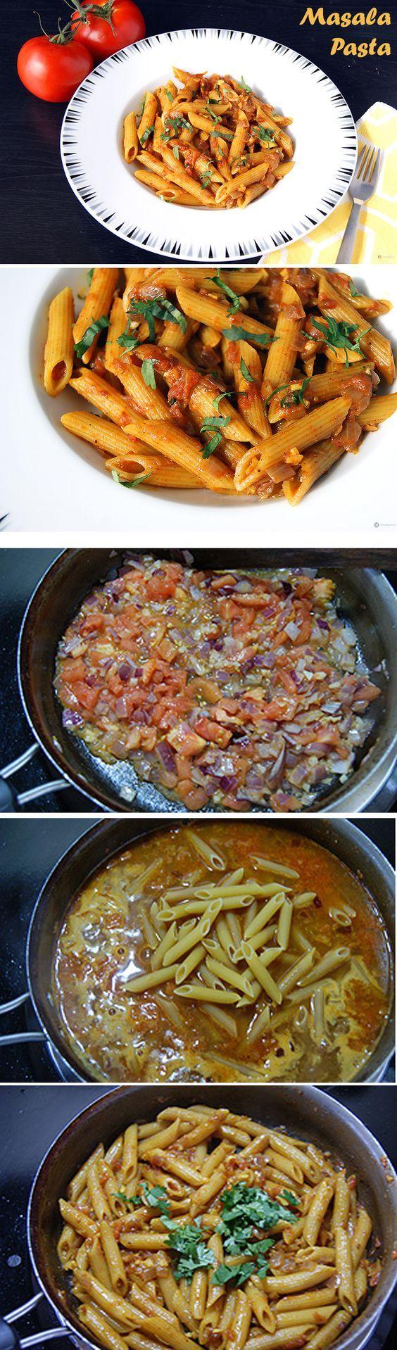 Masala pasta recipe italian pasta indian style and pasta forumfinder Images