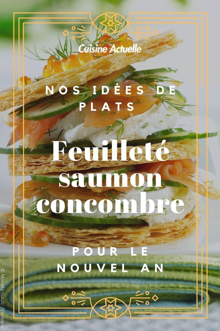 Feuilleté saumon concombre