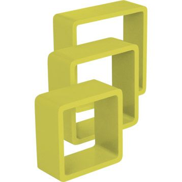 3 Cubes Jaune Anis N 3 Color Spaceo L28xp28cm L24xp24cm
