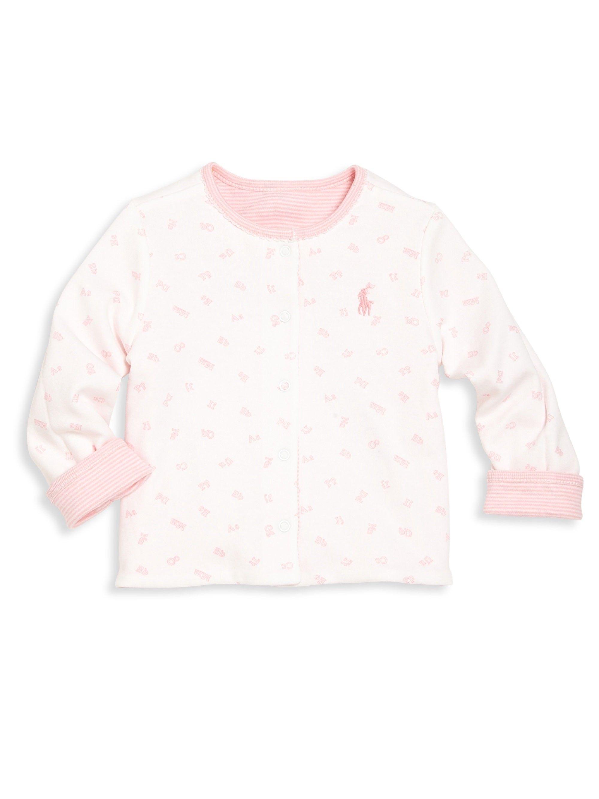 aff102ee3 Ralph Lauren Baby s Reversible Cardigan - Fresh Pink 12 Months ...