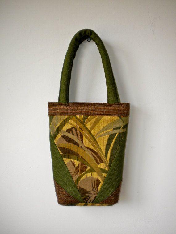 Handmade Handbag/Tote/Purse in Greens and Browns. by TonesDesigns, $35.00