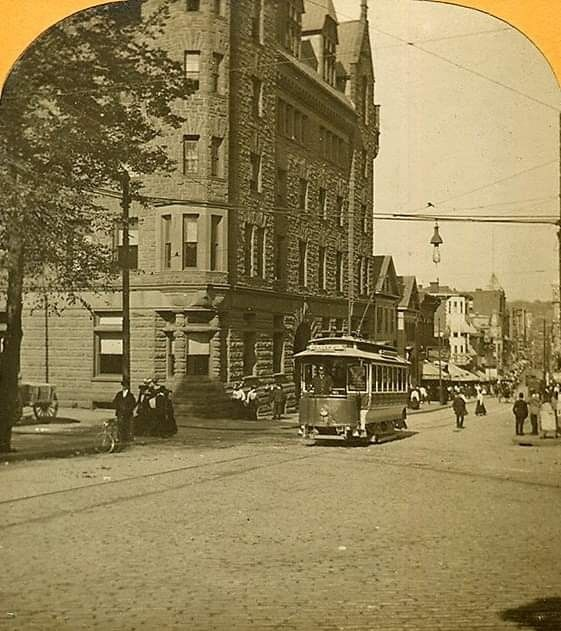 Providence. Westminster Street At The Corner Of Jackson