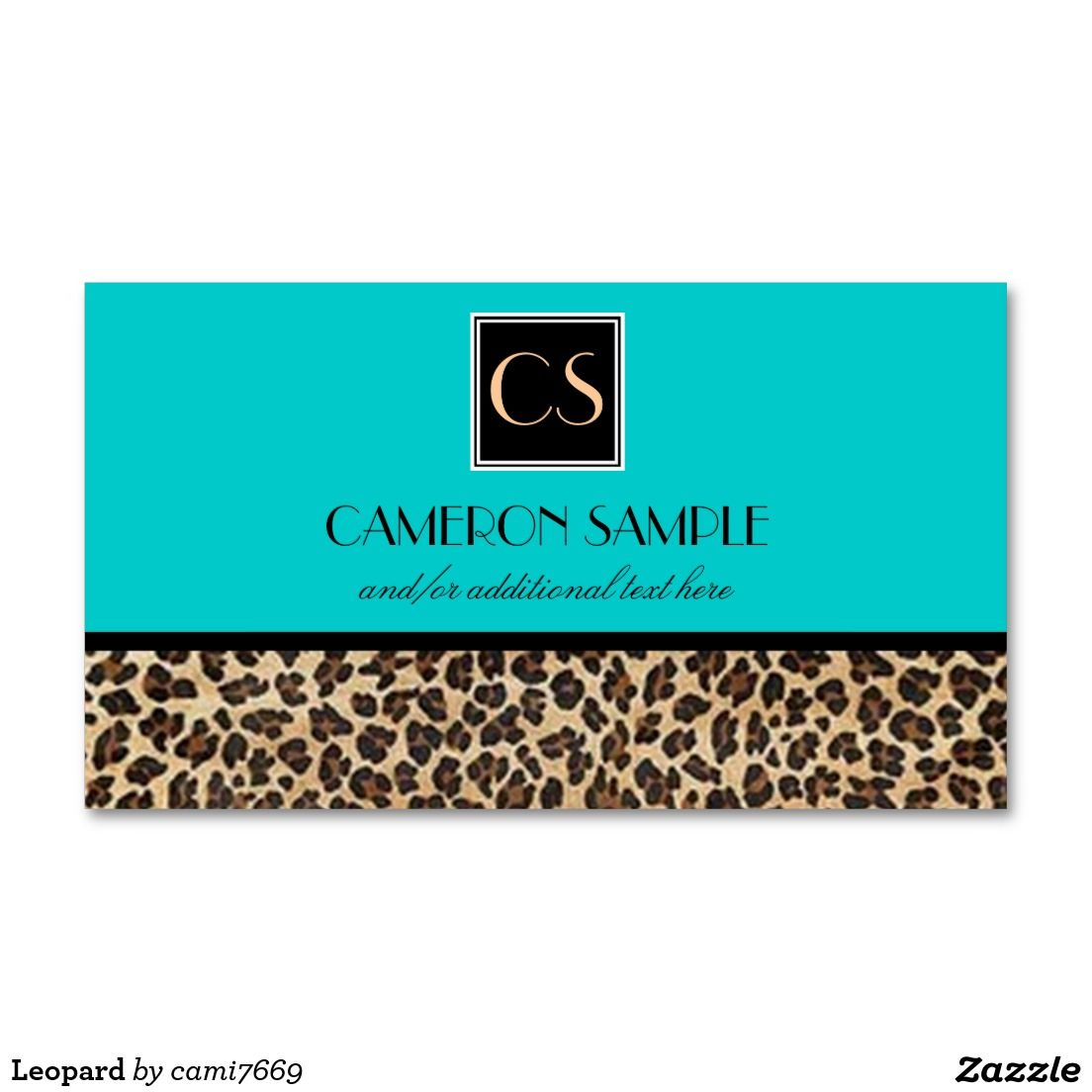 Leopard Business Card | Business cards, Leopards and Business