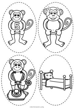 Five Little Monkeys Jumping on the Bed Number Rhyme