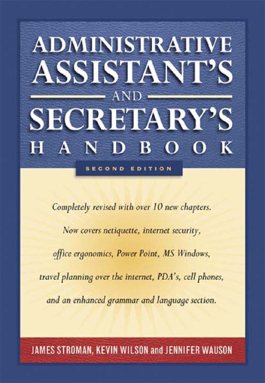 Free Download Administrative Assistants Secretary S Handbook
