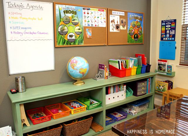 Tour Our Homeschool Room Happiness Is Homemade Diy Ideas Pinterest Homeschool Happiness