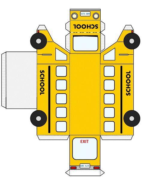 School Bus Template From http://www.dltk-kids.com | school project ...