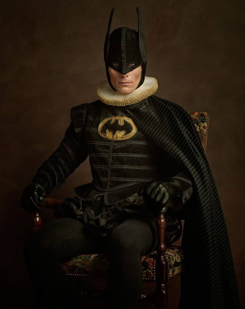 Fiction and Fantasy meets the history of art in the 'super flemish' series  by Sacha Goldberger #Batman