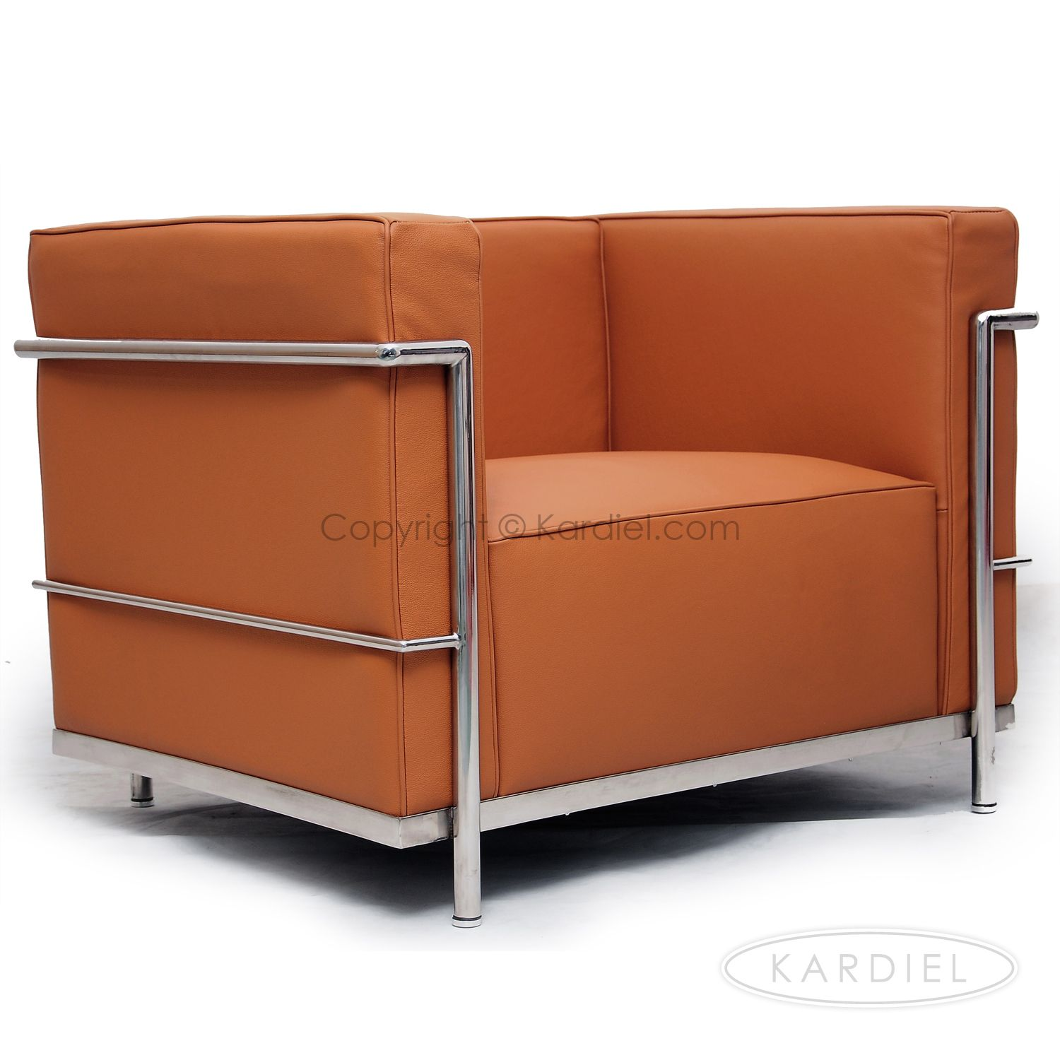 Le Corbusier Style LC3 Chair, Luxe Camel Standard Leather |