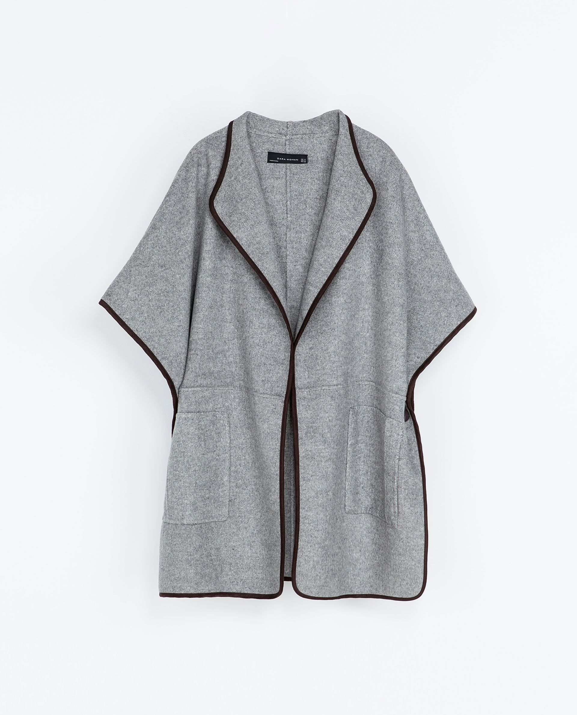 ZARA - WOMAN - HAND-MADE WOOL CAPE | Style | Pinterest | Wool cape ...