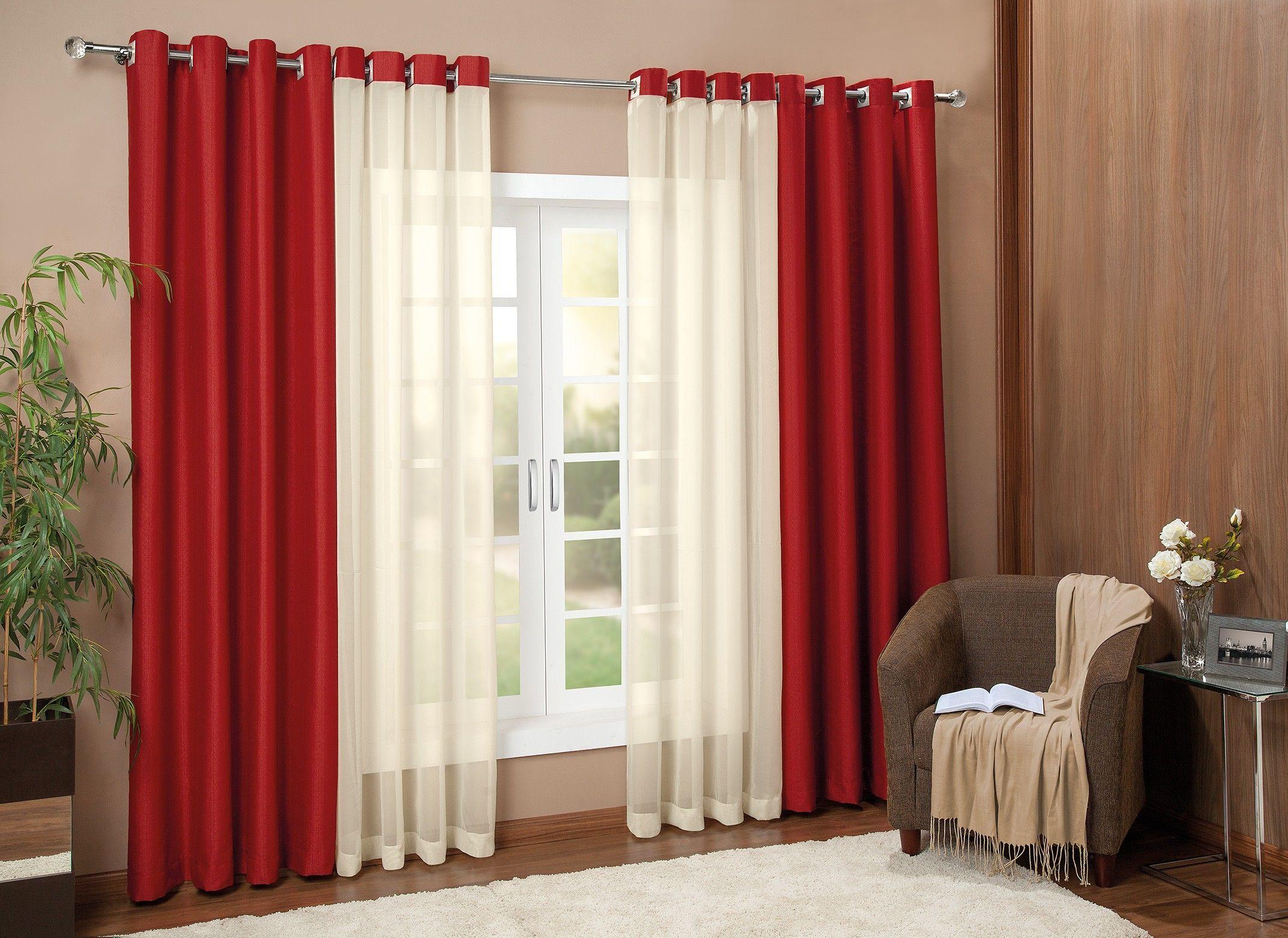 Cortina siena 3 00m x 2 50m p var o simples cortinas for Cortinas para departamentos pequenos