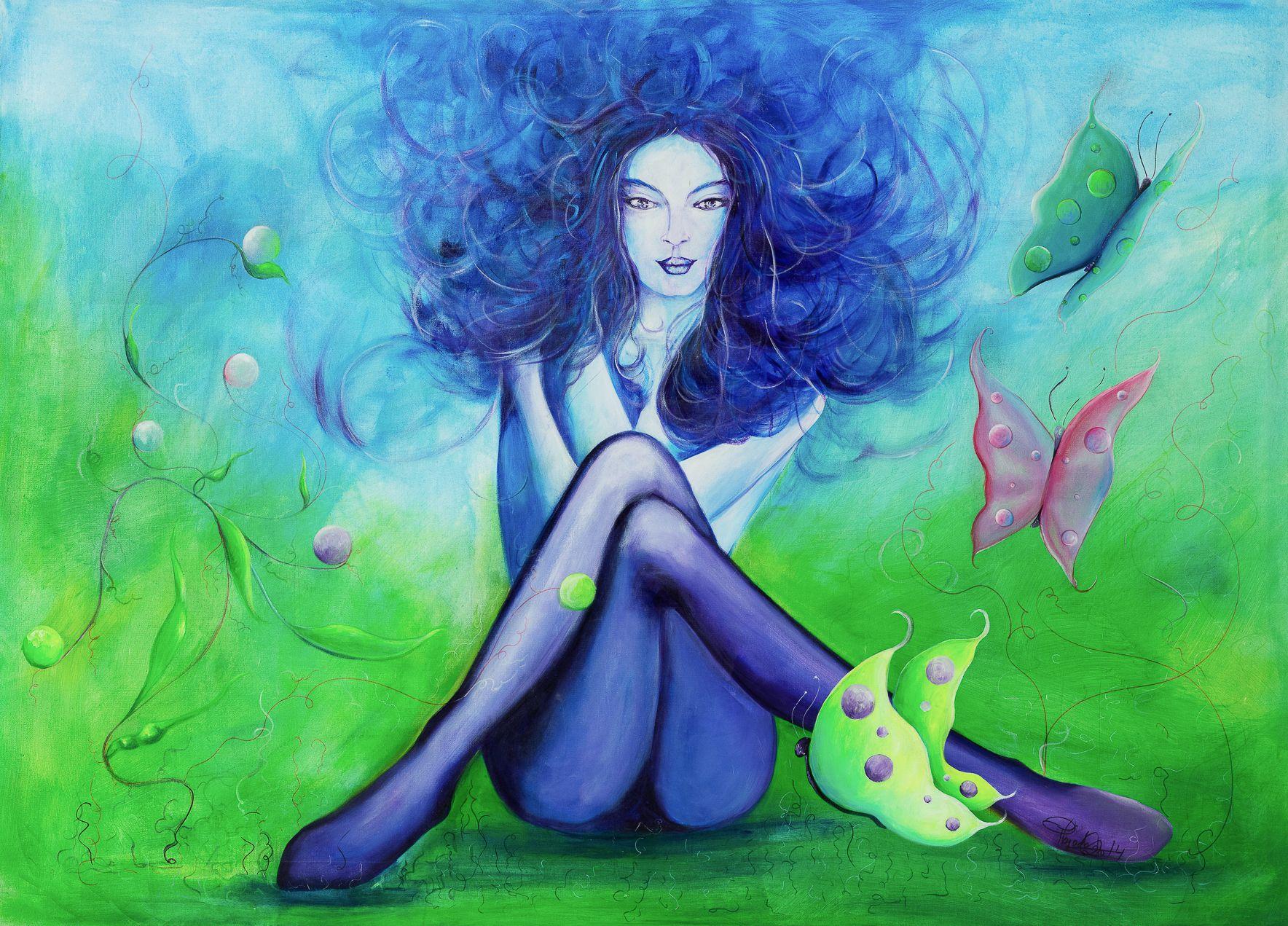 Viento de ilusiones | Illusion wind | Acrílico sobre lienzo | Acrylic on canvas by Pili Tejedo 140 x 95 cm