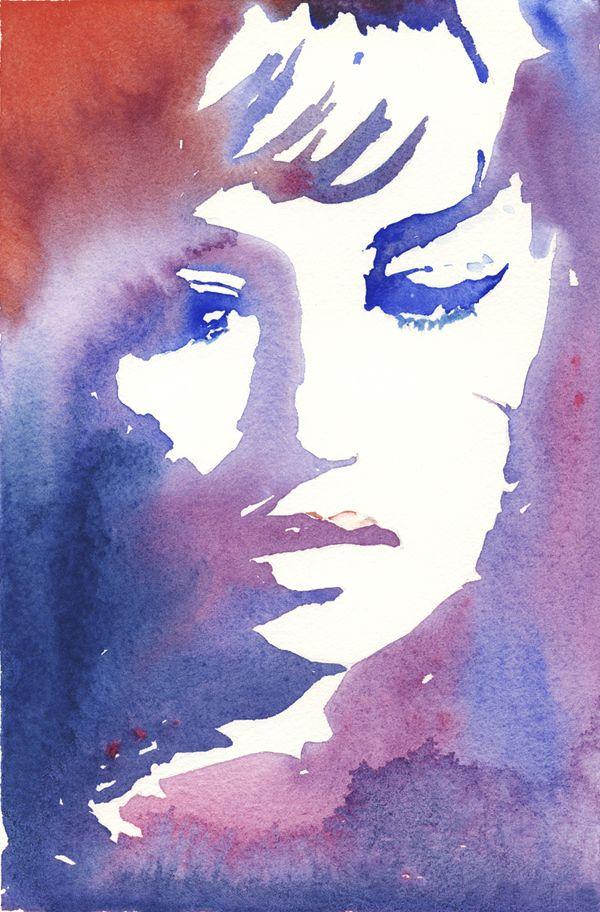 Watercolor Mode Aquarelle Visage A L Aquarelle Les Arts
