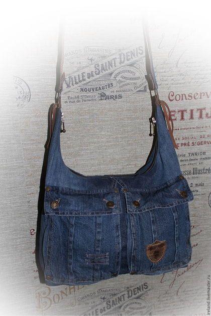 74ddb7c81cdd Женские сумки ручной работы. Ярмарка Мастеров - ручная работа. Купить  Джинсовая сумка через плечо