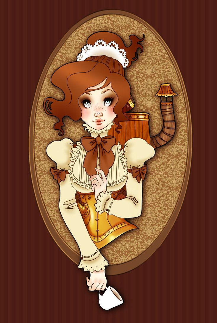 Steampunk robot maid by ~Gali-miau on deviantART