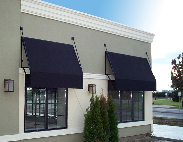 Black Panel Awnings Commercial Architecture House Exterior Awning