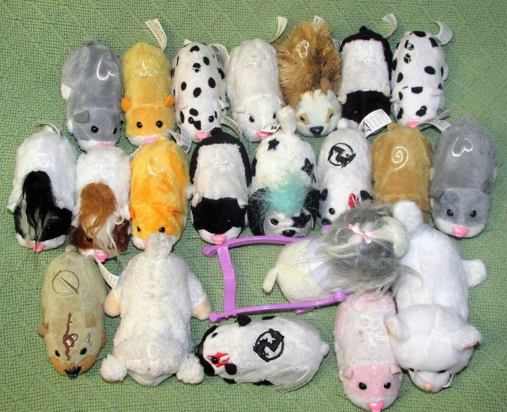 Huge Lot Zhu Zhu Pets 21 Pcs Hamsters Kung Zhu Puppy 2 Furreal 1 Amazimals Works Cepia Pets Zhu Zhu Puppies