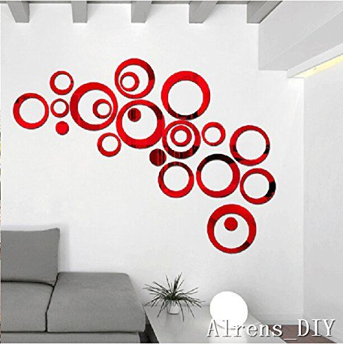 DIY Circles Wall Mirror Stickers Vinyl Art Mural Wall Sticker Room Decoration So