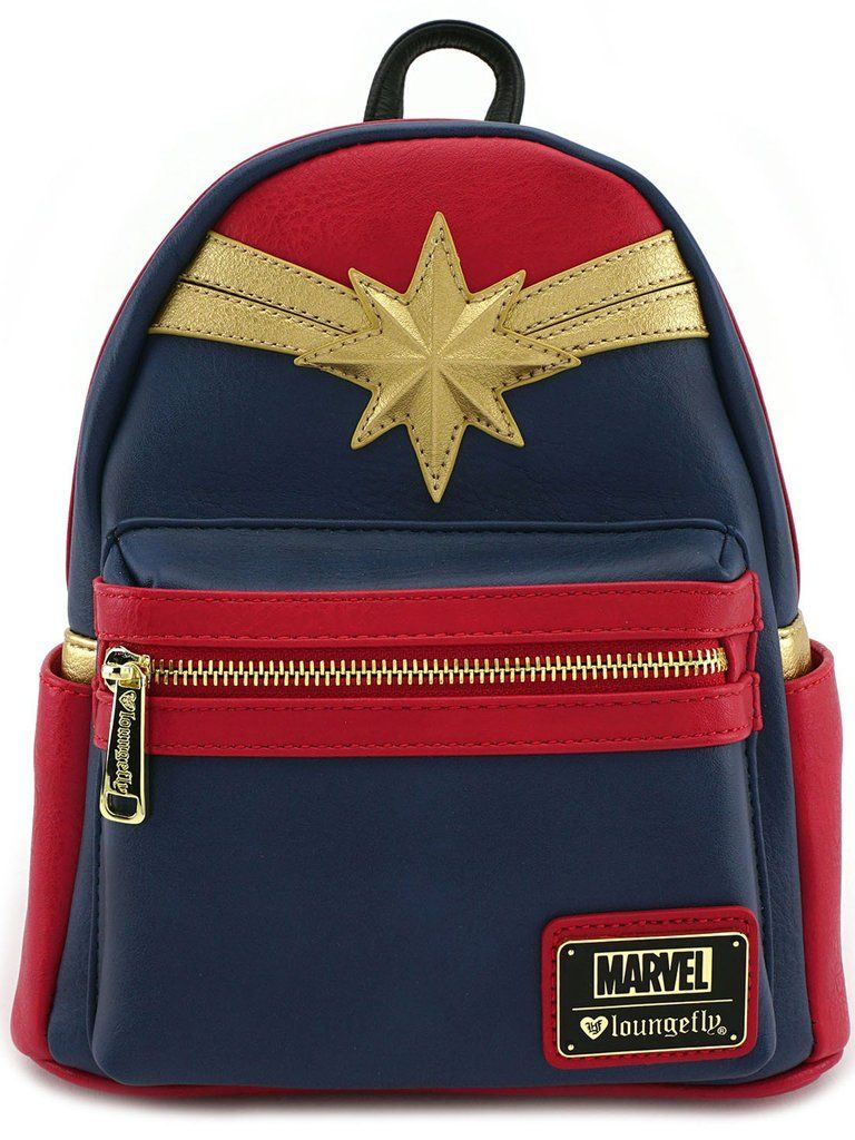 eebe2722ad4 Loungefly Captain Marvel Comics Emblem Cosplay Mini Fashion Backpack  brand-loungefly   color Multi  theme Big-Eyes Cartoon Pop-Art