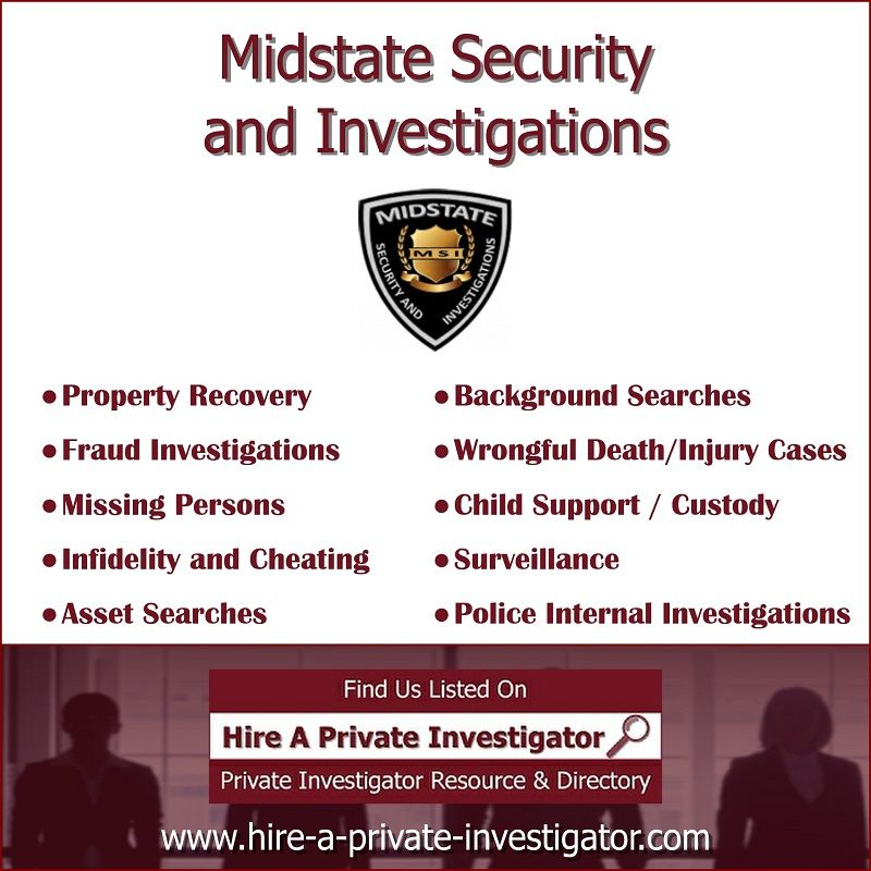 Midstate Security And Investigations Top Private Investigator In