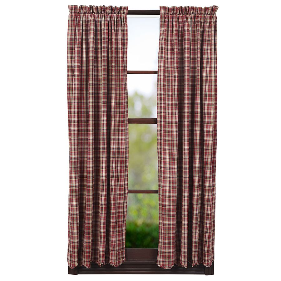 Braddock Lined Scalloped Short Curtain Panels 63 X 36 Curtains