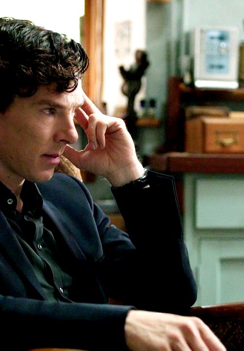Sherlock. That strange hair, that brilliance, #elementary my dear Watson...and some awesome marketing.  #singlemom loves #Sherlock