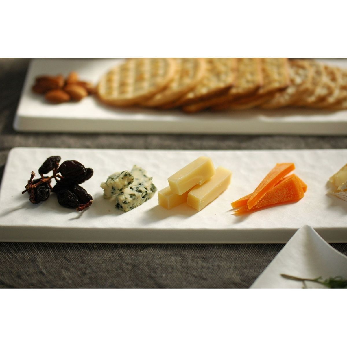Wasara 8 Plateaux Rectangulaires Jetables Taille 300 X 100 mm