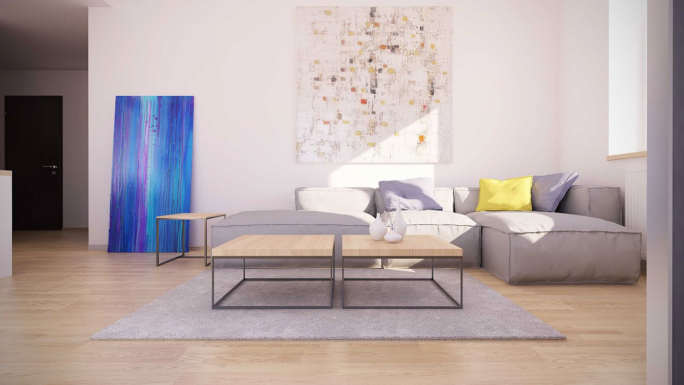 Moderne Wohnzimmer Designs mit perfekten und ehrfürchtigen Art Decor ...