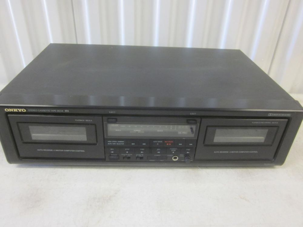 Onkyo TA-RW404 Stereo Double Cassette Player Recorder Deck Dolby Dual Tap~GOOD C #Onkyo