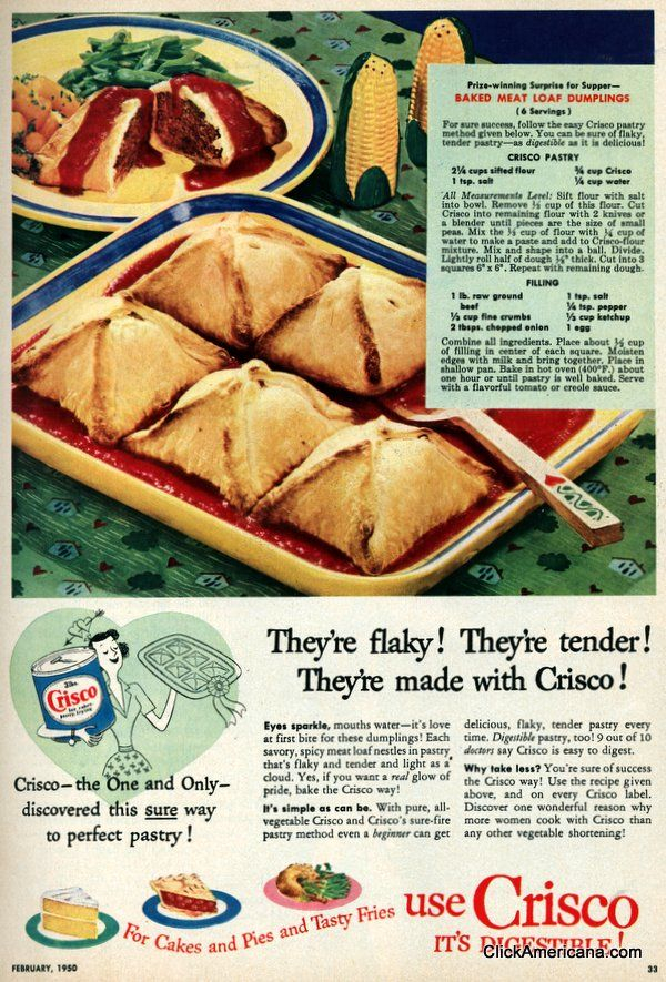 Photo of Baked meatloaf dumplings recipe (1950) – Click Americana