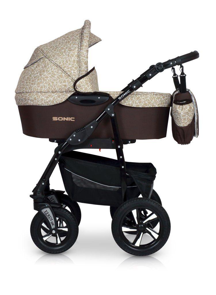 SONIC Comfort Line 3in1 Pram stroller, Convertible