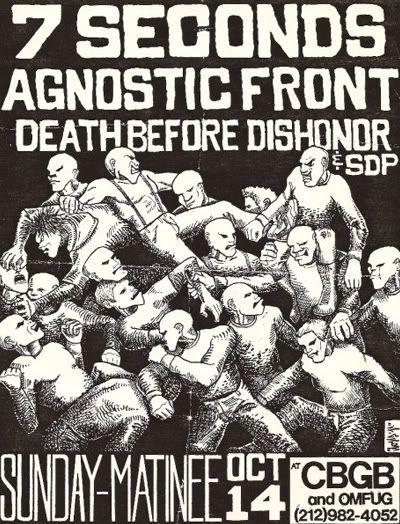 7 Seconds, Agnostic Front, Death Before Dishonor at CBGB