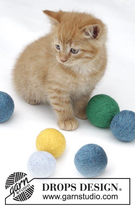 Gefilzte Spielbälle für die Katze Drops Eskimo -35% www.wollengel.de ...