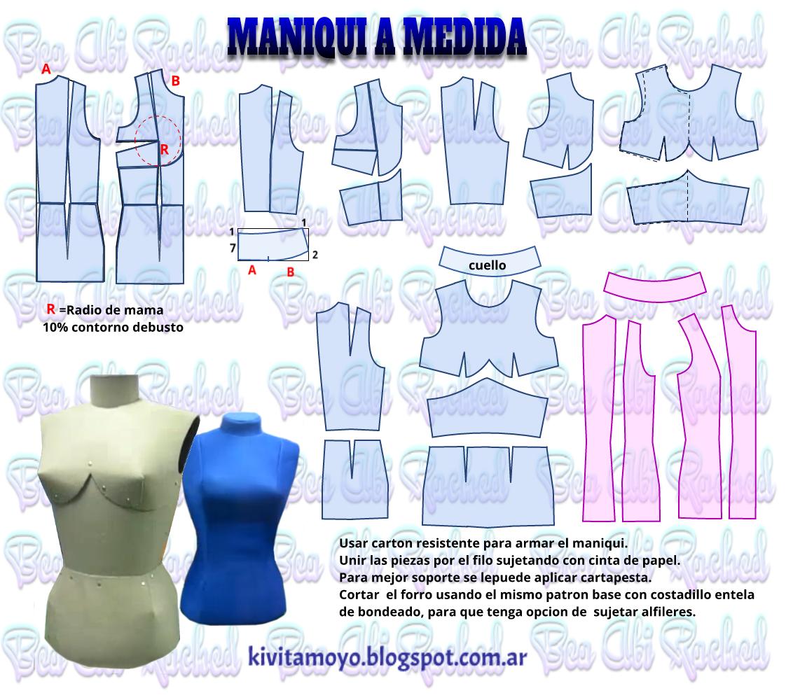 KiVita MoYo : MANIQUI A MEDIDA | PATRONES TECNICAS | Pinterest ...