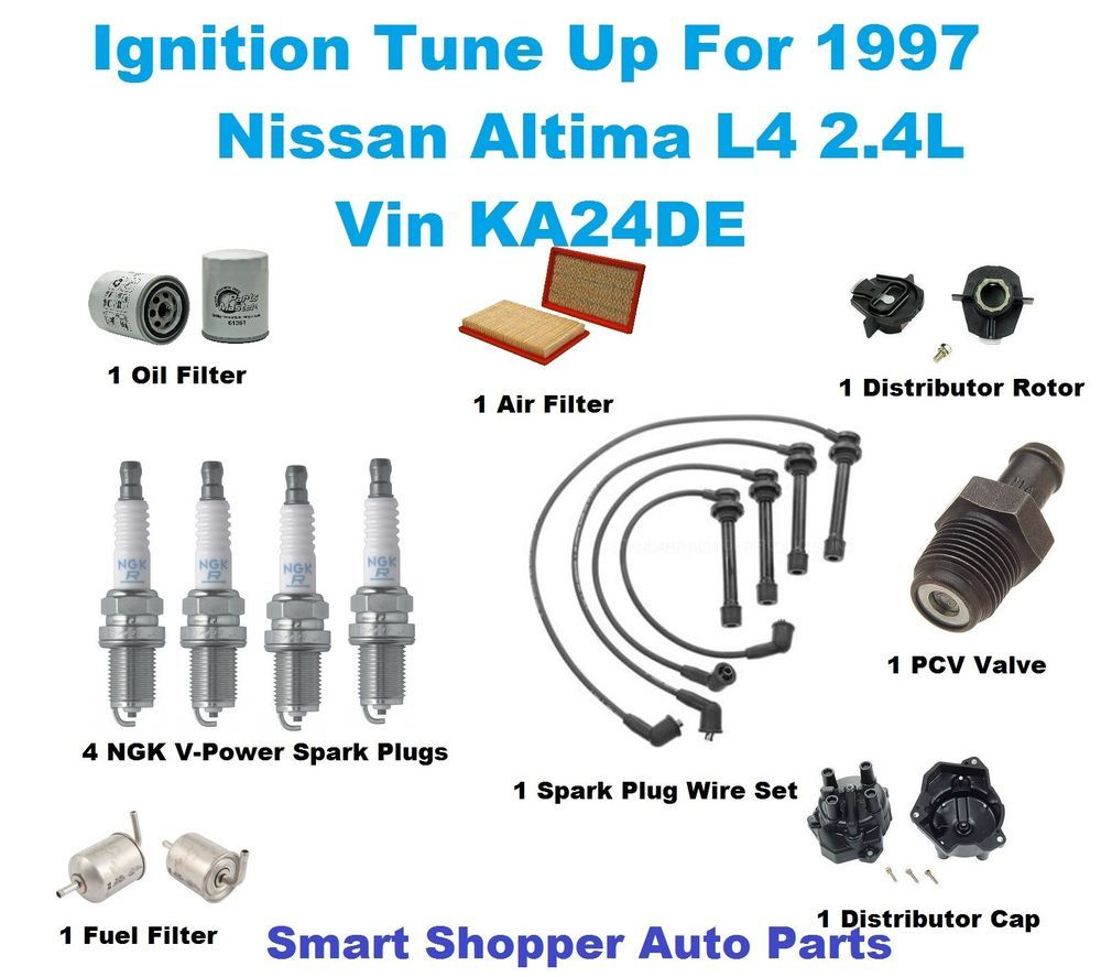 une up kit for 1997 nissan altima spark plug spark plug wire set filter cap [ 1000 x 887 Pixel ]