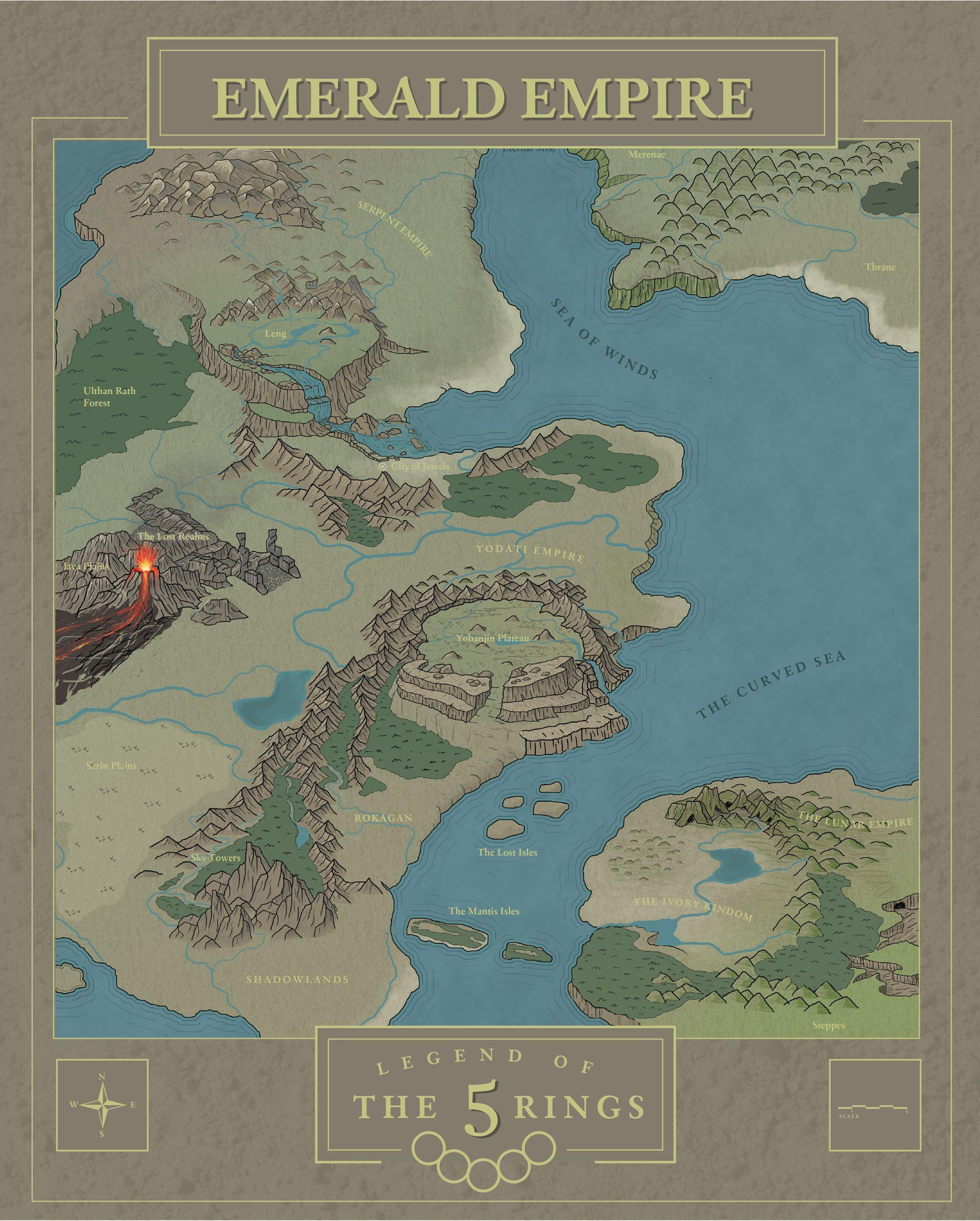 Work In Progress Rokugan Legend Of The Five Rings Maps