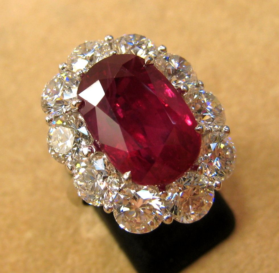 af48c6739f2e1 10.54ct Burmese Ruby in platinum with over 5ct of Diamonds