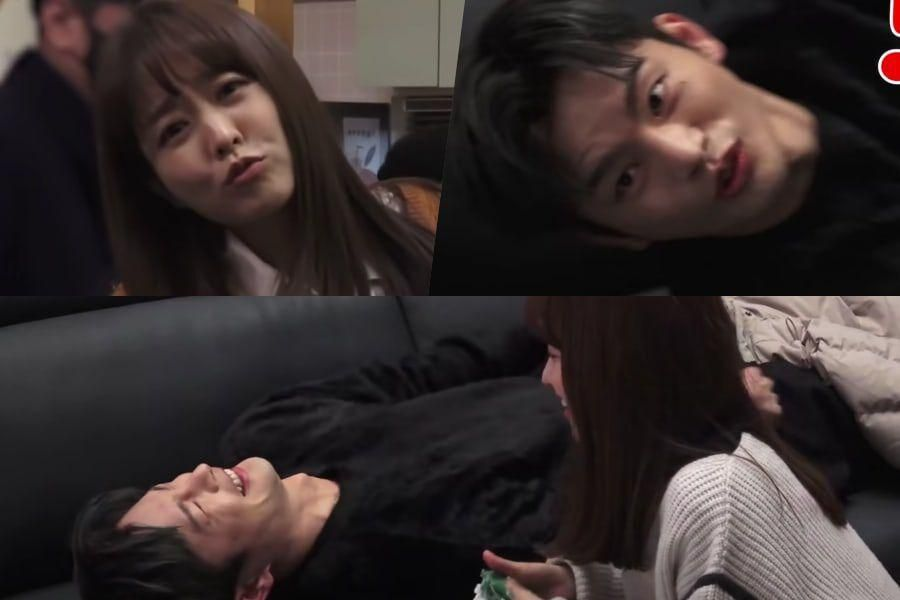 """Watch: Park Bo Young And Seo In Guk Are Scaredy Cats While Filming """"Doom At Your Service"""""""