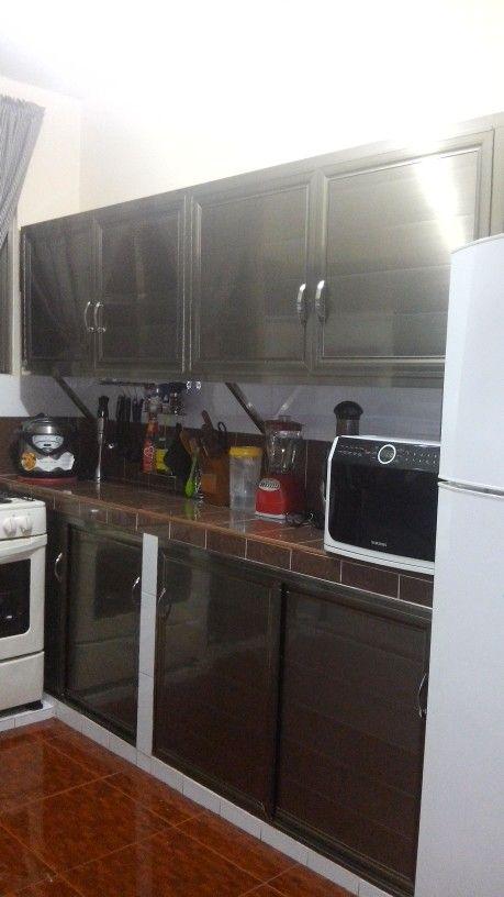 Aluminium Kitchen Cabinets Gabinetes De Cocina De Aluminio Cocinas De Aluminio Cocinas Integrales De Aluminio Modelo De Cocinas Pequenas