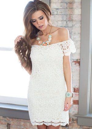 Make Me Feel Peachy Cream Crochet Lace Dress