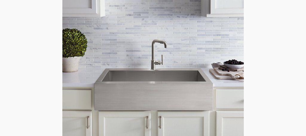 Kohler Vault K 3942 1 Na 36 Stainless Farmhouse Sink Single