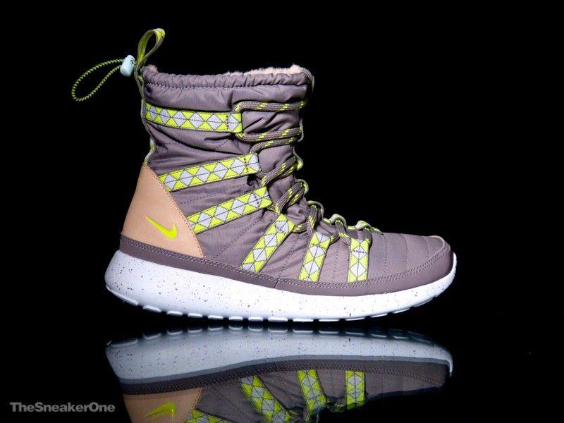 zapatillas nike roshe run hi sneaker boot print clip