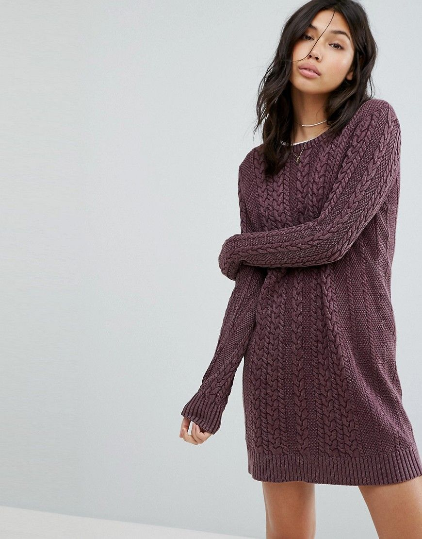b821b399223 Abercrombie   Fitch Cable Knit Sweater Dress - Red