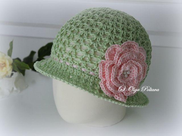Lacy Crochet Toddler Cloche Summer Hat Crochet Pinterest