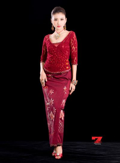 Myanmar new dress styles