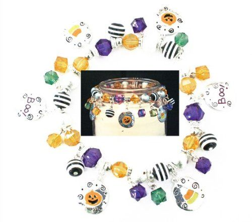 Halloween Scream Boo Jack O Lantern Candy Corn Candle Jar Candy Decor *** Click image for more details.
