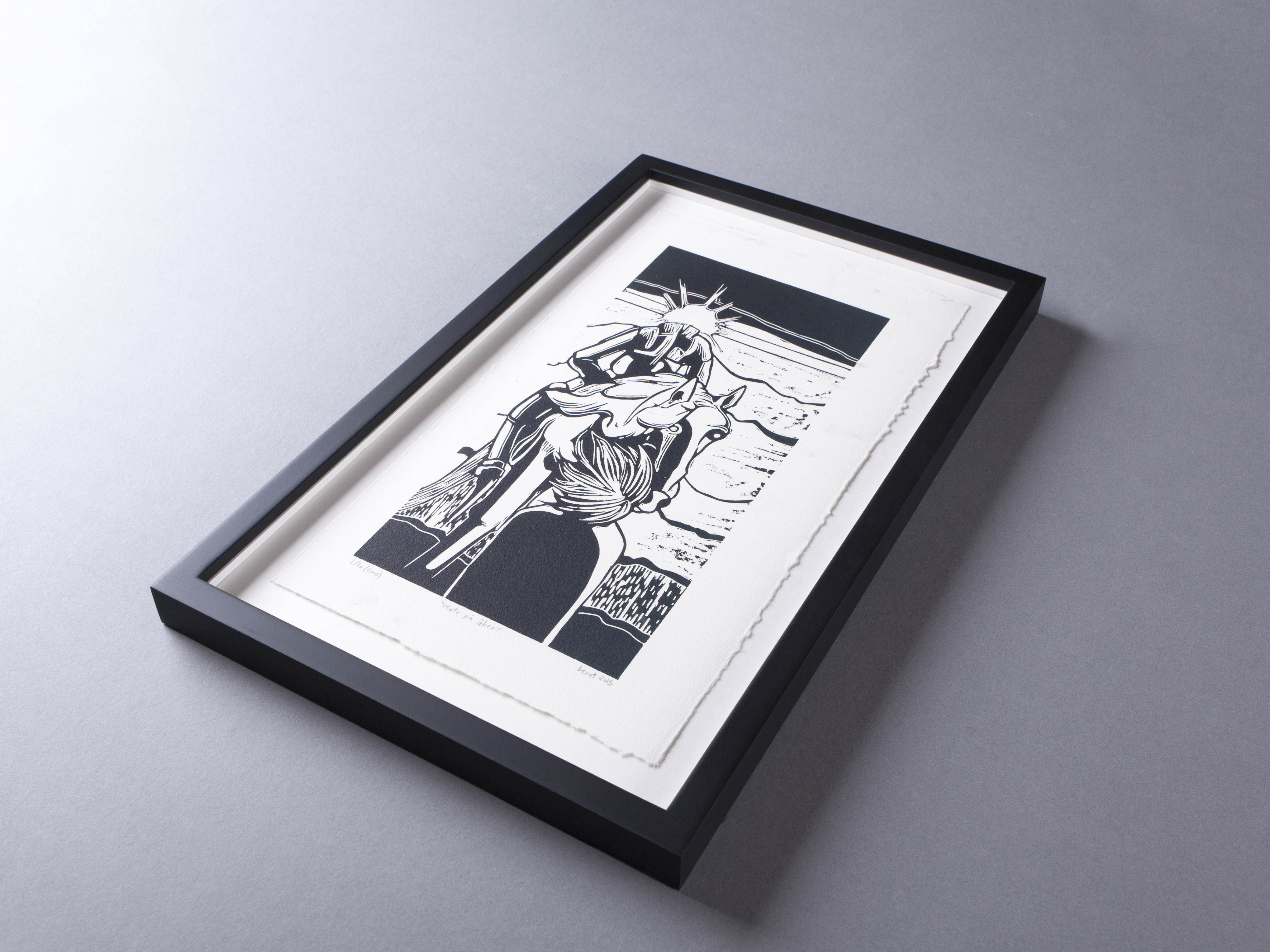 A custom maple wood box frame with artwork floated on archival a custom maple wood box frame with artwork floated on archival mount board and a hand jeuxipadfo Image collections
