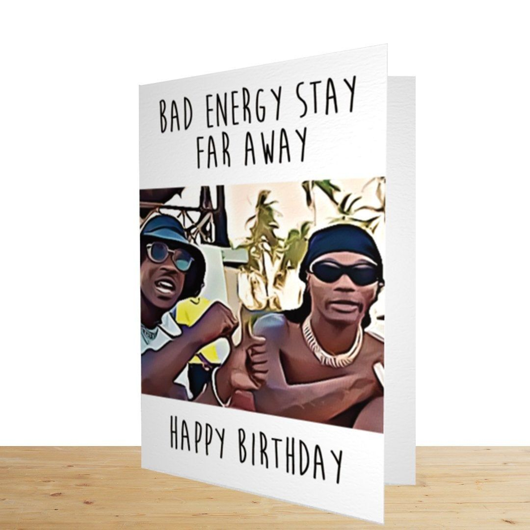 Skepta Wizkid Bad Energy Birthday Card Greeting Card Etsy Birthday Cards Drake Birthday Card Greeting Card Collection