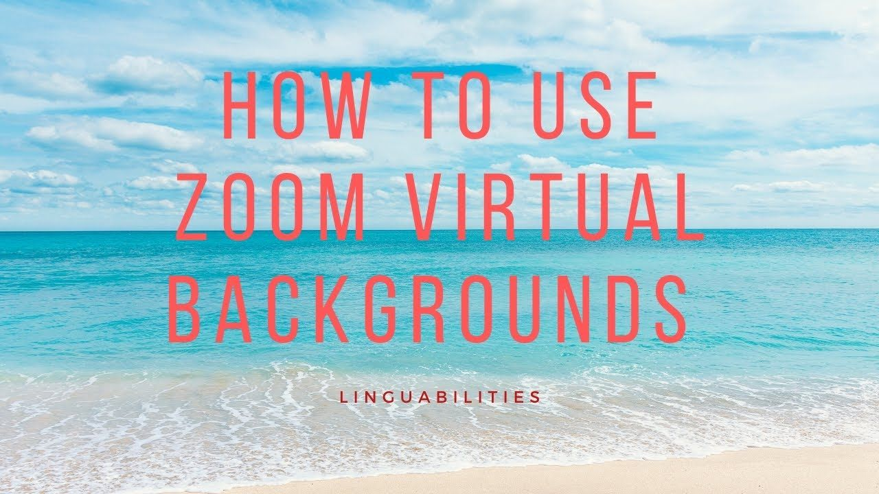 How To Use Zoom Virtual Backgrounds Speech Therapy Materials Online Therapy Speech Therapy