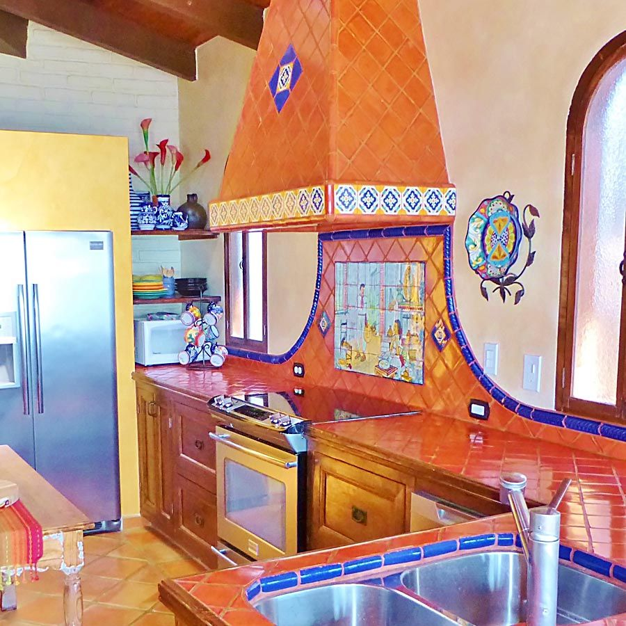 - Decorative Mexican Painted Tiles Mexican Style Kitchens, Mexican